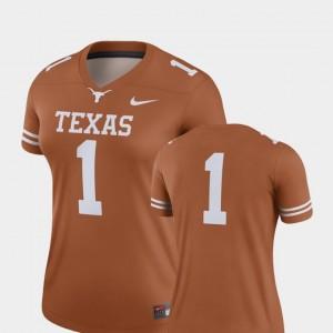Women Football Texas Longhorns #1 Finished Replica college Jersey - Texas Orange