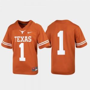Kids UT #1 Untouchable Football college Jersey - Texas Orange